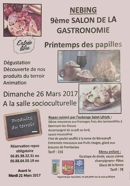 Salon de la gastronomie 9e dition juvelize moselle for Salon de la gastronomie orleans 2017
