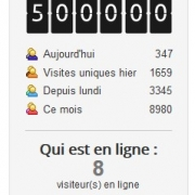 Un grand merci au demi-million de visiteurs !